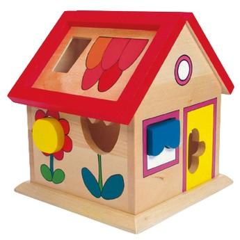Motorické a didaktické hračky - Bino Domeček s tvary Villa Florina