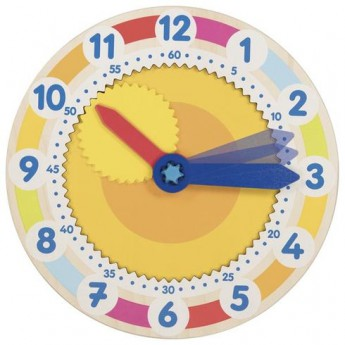 Dřevěné výukové hodiny s ozubeným kolem