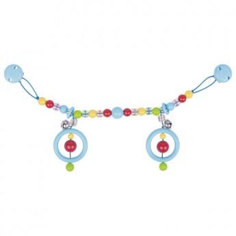 Řetěz do kočárku modrý