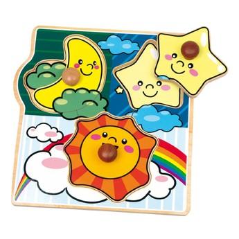 Puzzle - Puzzle mini Slunce, měsíc, hvězdy