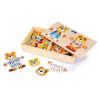 Puzzle - Šatní skříň medvědí rodinka