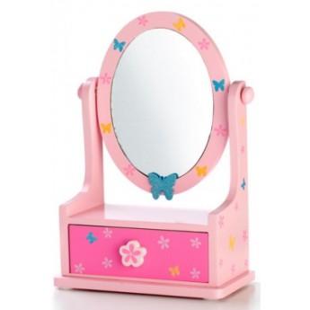 Zrcadlo šperkovnice zásuvka - motýlek