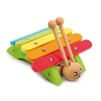 Dětské hudební nástroje - Dřevěný xylofon Šnek