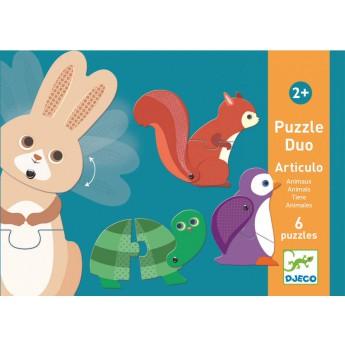 Djeco Duo puzzle Zvířátka v pohybu