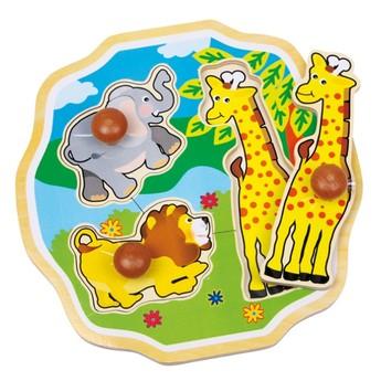 Puzzle - Puzzle slon, lev a žirafa