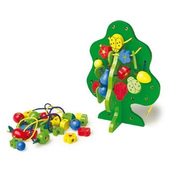 Motorické a didaktické hračky - Provlékací hra strom