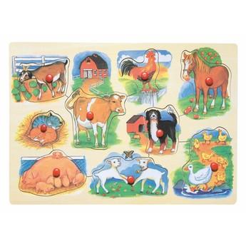 Puzzle - Puzzle na desce Farma s mláďaty