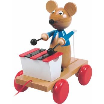Pro nejmenší - Tahací myš s xylofonem