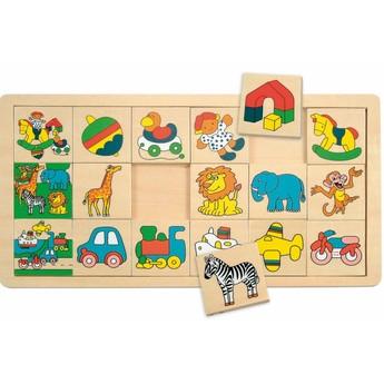 Motorické a didaktické hračky - Přilož kam co patří malé - Žirafa Suzie