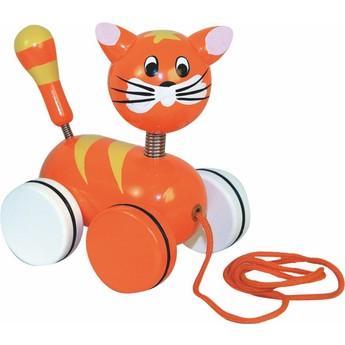 Pro nejmenší - Tahací kočička na kolečkách
