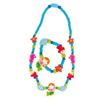 Souprava náhrdelník a náramek - Mořská panna