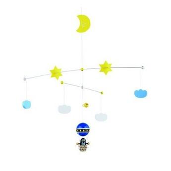 Dětský pokojíček - Závěsný kolotoč nad postýlku Krtek v balonu