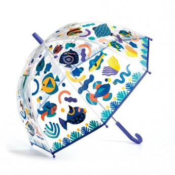 Djeco Krásný designový deštník Oceán, měnící barvu