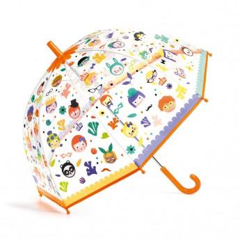 Djeco Krásný designový deštník Obličeje
