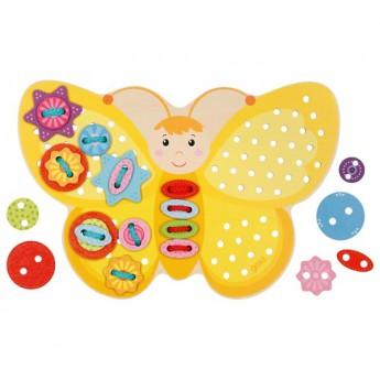 Provlékací hračka – Žlutý motýlek