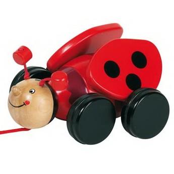Pro nejmenší - Dřevěná tahací hračka – Beruška Lil
