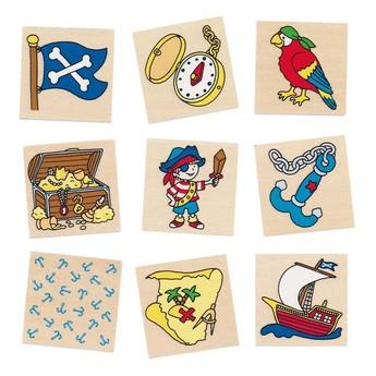 Hry a hlavolamy - Dřevěné pexeso – Pirát