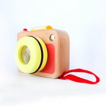 Dětský dřevěný fotoaparát