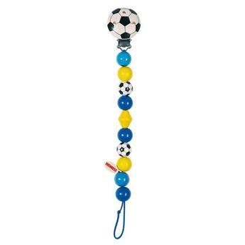 Pro nejmenší - Závěs na dudlík - Modrý fotbal