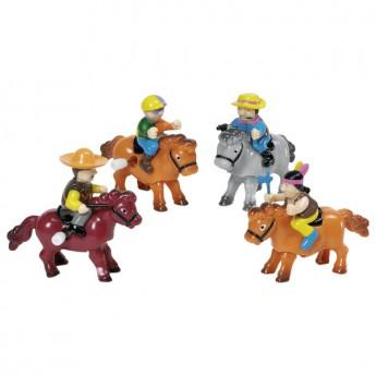 Hračky na natažení – Jezdci na koních, mix vzorů