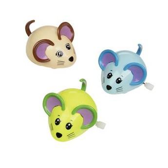 Hračky na natažení – Myšky - modrá, zelená, béžová