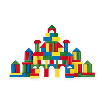 Kostky a stavebnice - Dřevěné kostky 100 ks