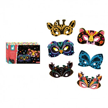 Janod Atelier Vyškrabovačky Zvířecí Masky