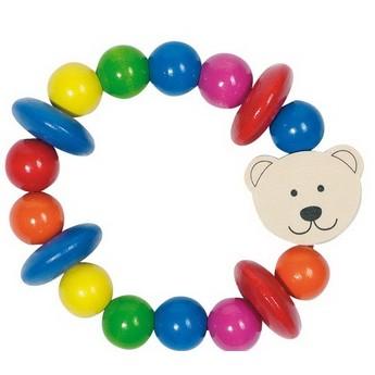 Pro nejmenší - Medvídek – dřevěná hračka do ruky