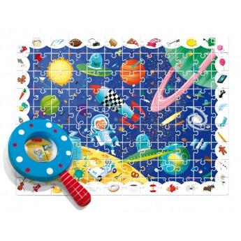 Ludattica Puzzle s lupou - Vesmír - 108 dílů