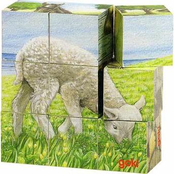 Kostky a stavebnice - Kostky s obrázkem – Zvířátka na statku
