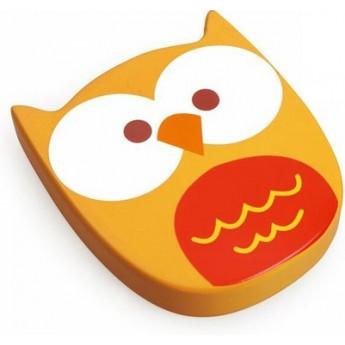 Scratch Chrastící hračka Sovička žlutá