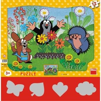 Puzzle - Krteček zahradník 12 dílků