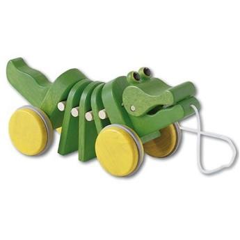 Dřevěná tahací hračka – Tančící aligátor