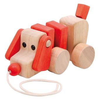 Pro nejmenší - Dřevěný tahací pejsek