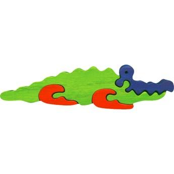 Puzzle - Vkládací mini puzzle - Krokodýl