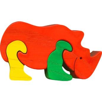 Puzzle - Vkládací mini puzzle - Nosorožec