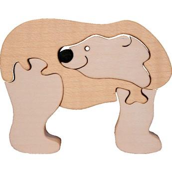 Puzzle - Vkládací mini puzzle - Lední medvěd