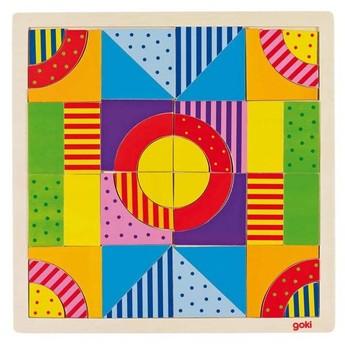 Hry a hlavolamy - Dřevěné puzzle a mozaika v jednom – Svět barev