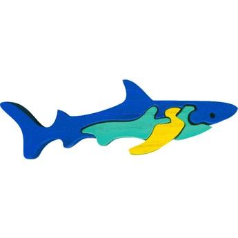 Puzzle - Vkládací mini puzzle - Žralok