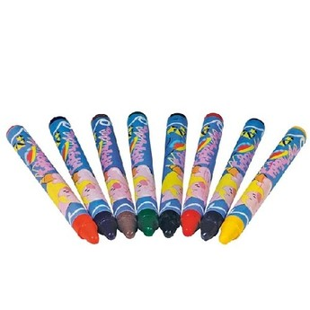 Výtvarné a kreativní hračky - Voskovky na textil, 8 ks