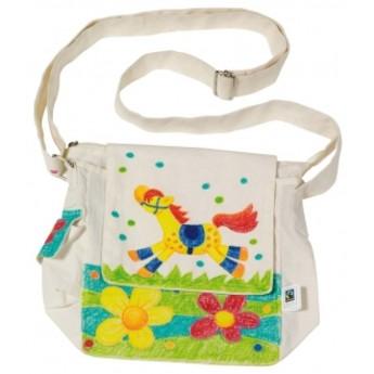 Výtvarné a kreativní hračky - Bavlněná taška přes rameno k vymalování