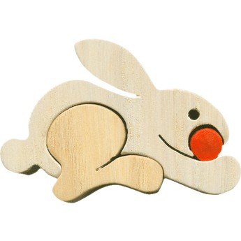 Puzzle - Vkládací mini puzzle - Zajíc