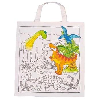 Výtvarné a kreativní hračky - Bavlněná taška k vymalování – Dinosauři