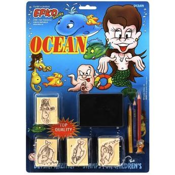 Výtvarné a kreativní hračky - Razítka sada - OCEÁN