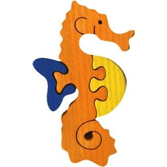 Puzzle - Vkládací mini puzzle - Mořský koník