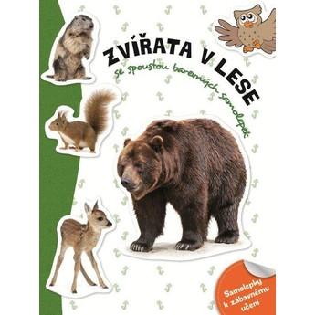Výtvarné a kreativní hračky - Samolepková knížka - Zvířata v lese