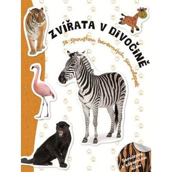 Výtvarné a kreativní hračky - Samolepková knížka - Zvířata divoká