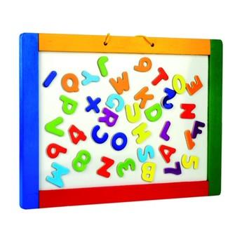 Školní potřeby - Magnetická závěsná tabule s písmenky, oboustranná