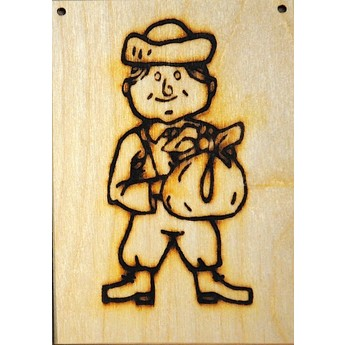 Výtvarné a kreativní hračky - Dřevěné omalovánky - Hloupý Honza