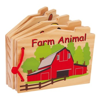Pro nejmenší - Dřevěná knížka - Farma
